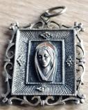 Medalion religios- icoana - argint 925  - bijuterii vintage