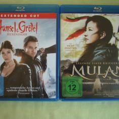 2 Filme Blu-Ray HANSEL and GRETEL + MULAN - Fara traducere in Romana