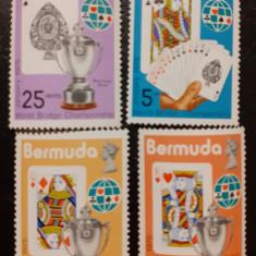 Bermuda 1975 Campionatul mondial de Bridge serie 4v mnh