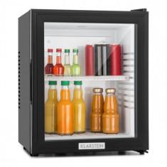 Klarstein Klarstein MKS-12, 24 l, neagră, minibar, mini frigider, ușă de sticlă, frigider de cameră, clasa de energie A