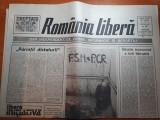 """Ziarul romania libera 14 martie 1990-articolul """"parintii dictaturii"""""""