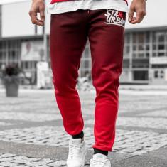 Pantaloni de trening bărbați roșu Bolf AM036