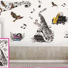 Sticker decorativ 5D Jazz music + Cadou set Stiker fosforescente