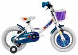 Bicicleta Copii Dhs Countess 1404 Alb Albastru 14 Inch