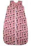 Sac de dormit 0.8 tog Iepurasi visatori jersey roz 85 cm