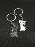 Breloc chei Set cuplu pisici aristocrate accesorii cupluri indragostiti
