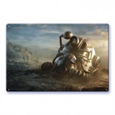 Poster Metalic Fallout76 Power Armor Wallart