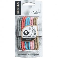 Set elastice de par, 5 bucati, Multicolor