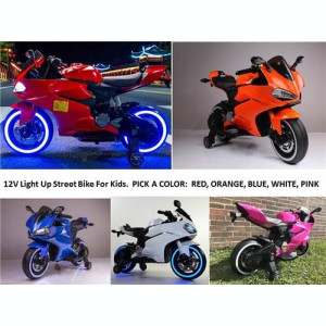 SUPER MOTOCICLETA ELECTRICA PT.COPIII,DUCATI REPLIK SPORT,MP3 PLAYER USB,LUMINI.