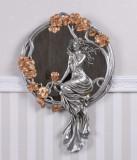 Oglinda Art Nouveau argintie cu o nimfa AN10194AB