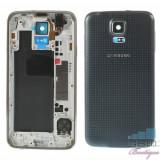 Cumpara ieftin Carcasa Corp Mijloc Samsung Galaxy S5 Cu Capac Baterie Spate Originala Gri