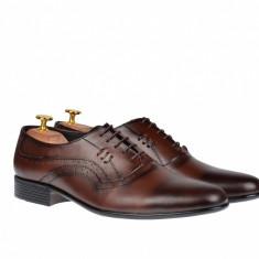 Pantofi barbati maro - eleganti din piele naturala - ELION6M