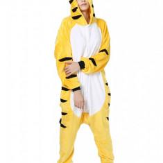 PJM65-292 Pijama intreaga kigurumi, model tigru galben