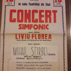Afis Filarmonica Oradea 1957 RPR comunist