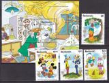Redonda 1989 Disney Twain serie + bloc MNH, Nestampilat
