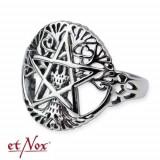 Inel argint Copacul vietii cu pentagrama