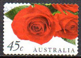 Australia 1999, Flora, Trandafiri, serie stampilata
