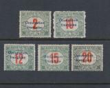 ROMANIA 1919 OCUPATIA FRANCEZA IN ARAD PORTO  AUTENTIFICARE MNH