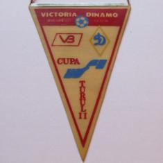 Fanion fotbal VICTORIA Bucuresti - DINAMO Minsk 10.11.1988 Cupa UEFA