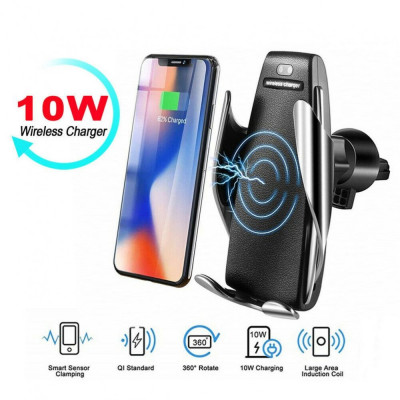 Incarcator auto wireless QI universal, model Penguin Wireless Charger, foto