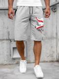 Pantaloni scurți gri bărbați Bolf QN254A