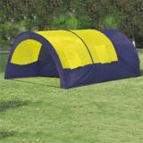 Cort pentru camping din poliester, 6 persoane, Albastru/ Galben