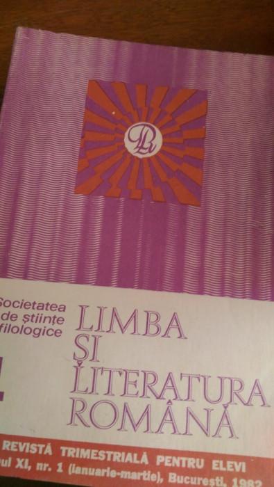LXXR2 Limba si literatura romana revista pt elevi an XI 1982