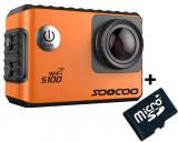 Cumpara ieftin Camera Video Sport 4K iUni Dare S100 Orange, WiFi, GPS, mini HDMI, 2 inch LCD + Card MicroSD 16GB Cadou