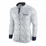 Camasa pentru barbati alba flex fit cu model Soiree d automne III