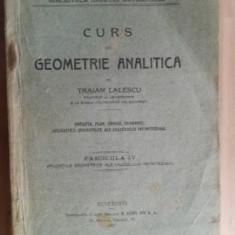 Curs de geometrie analitica Fascicula IV- Traian Lalescu