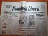 """Ziarul romania libera 10 august 1990-art.""""ardealul acum"""" si """"pactul national"""""""