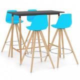 Set mobilier de bar, 5 piese, albastru, vidaXL