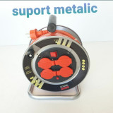 Rola Cablu Curent Electric BOXER Polonia 25m 3x2.5mm 3150W Tambur