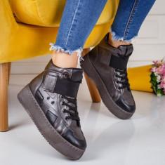 Sneakers dama cu platforma gri Adolfina -rl