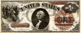 1 dolar 1880 Reproducere Bancnota USD , Dimensiune reala 1:1