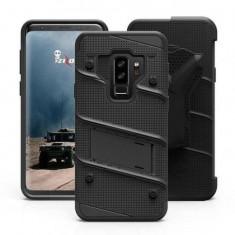 Husa Samsung Galaxy S9 Plus Folie SticlaZizo Bolt Cover Neagra, Negru, Carcasa