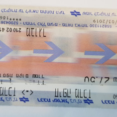 Bilet transport tren Israel, 2019