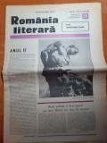 Romania literara 15 iulie 1982-articol si foto canalul dunare marea neagra