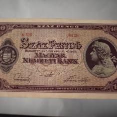 Bancnota Ungaria - 100 Pengo 1945 - Budapesta