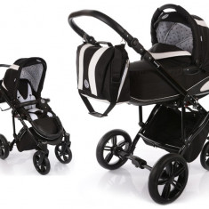 Carucior copii 2 in 1 cu landou Knorr Baby Volkswagen Carbon Optik Black