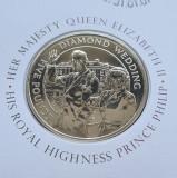 Guernsey 5 pounds lire 2007 Diamond Wedding, Europa