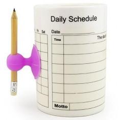 Cana portelan Schedule orar pe care se poate scrie si sterge