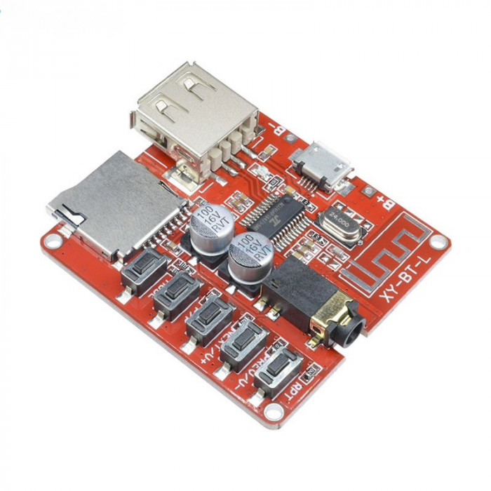 Modul Receiver Audio Bluetooth 4.1, Micro SD TF Card, USB, Interface, 3.7-5V