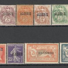 Algeria.1924 Timbre Franta-supr.  13 buc.  SX.44, Nestampilat