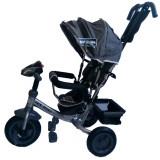 Cumpara ieftin Tricicleta multifunctionala cu sunete si lumini Lux Trike Dark Blue, Baby Mix
