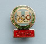 Insigna  Pin  Olimpica  Coca Cola  -  DE VI. OLYMPISKE VINTERLEKER -  OSLO 1952