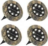 SET 4 LAMPI SOLARE CU 4 LED-URI SMD SI SENZORI DE APRINDERE DISK LIGHTS,SUPER!