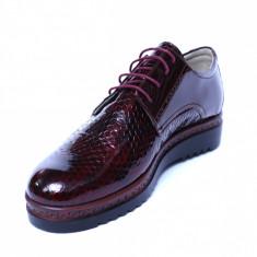 Pantofi dama din piele naturala, Cameleon, Alexin, Bordeaux, 38 EU