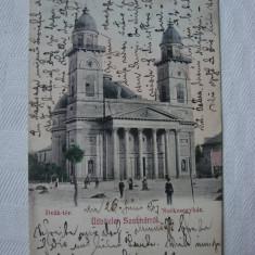 Carte postala SATU MARE Szatmarrol, circulata la 1907 (1)