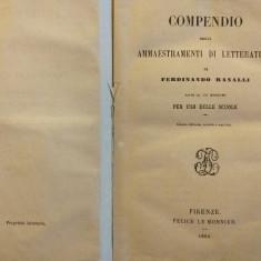 Lectii de literatura italiana, bibliofilie 1865